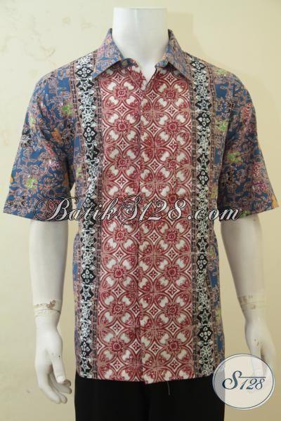 Baju Batik Cowok Tampan, Hem Batik Tiga Motif Cap Tulis, Batik Keren Menawan Lelaki Tampil Makin Percaya Diri [LD4312CT-XL]