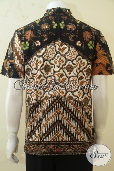 Baju Batik Printing Klasik Buatan Solo, Hem Batik Lengan Pendek Istimewa Kwalitas Bagus Banget Dengan  Harga Terjangkau, Size M
