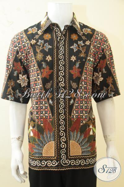 Batik Seragam Kerja Pria, Hem Batik Elegan Motif Klasik Proses Printing, Baju Batik Paling Laris Banyak Di Sukai Pegawai Kantoran [LD4326P-XL]