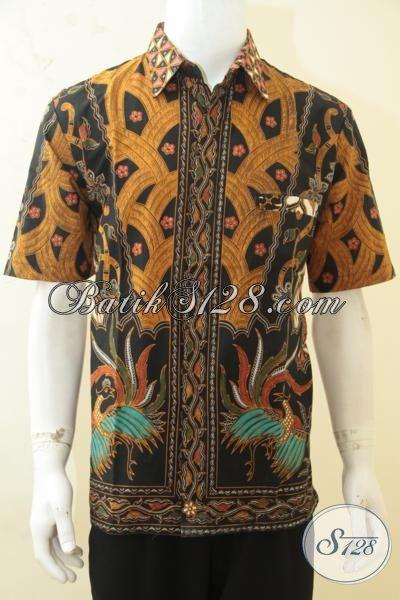 Batik Baju Modern Klasik, Busana Batik Lengan Pendek Istimewa Size L, Batik Bahan Halus Proses Printing Harga 100 Ribuan [LD4328P-L]
