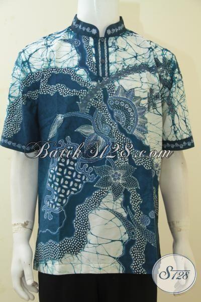 Kemeja Batik Motif Unik Dan Modern, Busana Batik Tulis Kerah Shanghai Cocok Banget Untuk Menyambut Lebaran, Size L