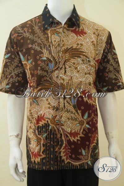Kemeja Batik Pria Dewasa Size Xl Baju Batik Lengan Pendek