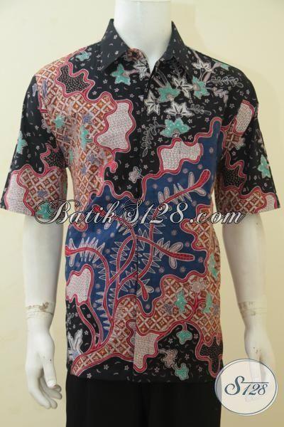 Hem Batik Premium Harga Terjangkau, Busana Batik Tulis Full Furing Lengan Pendek Istimewa Untuk Kerja Dan Rapat, Size XL