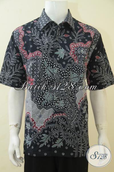Baju Batik Berkelas Untuk Pria Muda Dan Dewasa, Pakaian Batik Full Furing Lengan Pendek Tulis Tangan Istimewa Ukuran XL