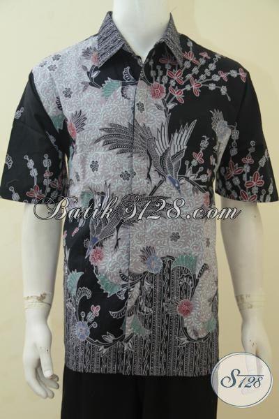 Busana Batik Executive Trend Terkini, Baju Batik Mewah Motif Bagus Sekali, Batik Tulis Full Furing Tampil Makin Berkelas, Size XL