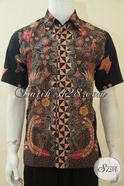 Baju Hem Batik Tulis Soga Lebih Halus Dan Lebih Mewah, Pakaian Batik Lengan Pendek Full Furing Premium Untuk Tampil Lebih Menawan, Size M
