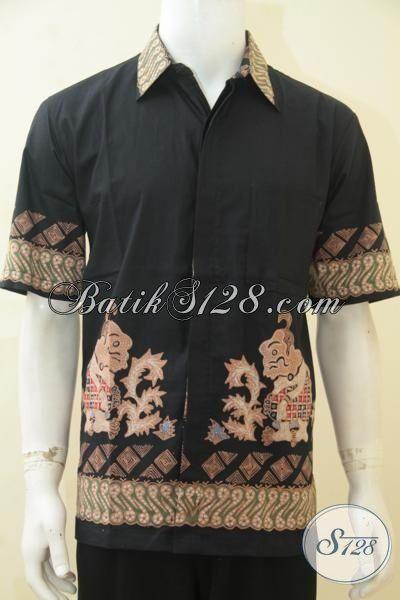Baju Batik Wayang Motif Gareng Kombinasi Kain Polos c65e73172c