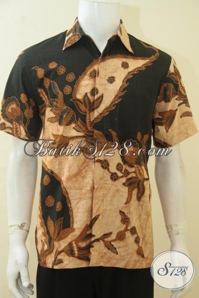 Baju Batik Trendy Kwalitas Halus Proses Kombinasi Tulis, Busana Batik Spesial Buat Anak Muda Dan Pria Dewasa Tampil Makin Beda, Size M
