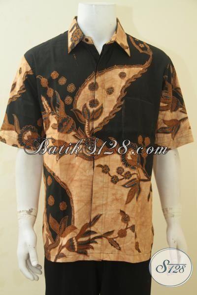 Pakaian Batik Jawa Etnik Warna Klasik Berpadu Motif Keren Yang Fashionable, Batik Jawa Kombinasi Tulis Membuat Cowo Terlihat Berwibawa, Size XL