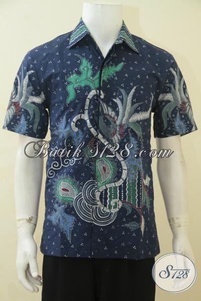Baju Lengan Pendek Batik Tulis Halus Dan Full Furing, Pakaian Batik Lelaki Tampil Modis Bergay, Size M