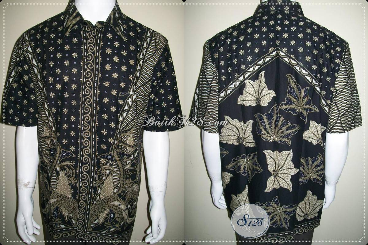 Kemeja Batik Tulis Tidak Luntur Kualitas Bagus, Batik Solo Asli [LD446T-XL]