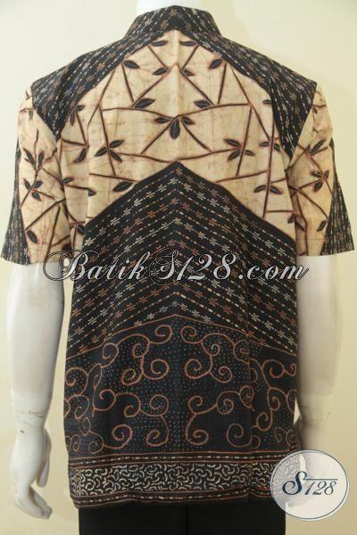 Pakaian Batik Klasik Buatan Solo, Hem Batik Tulis Full Furing Lengan Pendek Cocok Buat Kondangan Dan Rapat, Size L