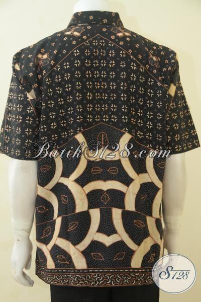 Hem Batik Bagus Untuk Pria Dewasa, Baju Batik Full Furing Untuk Kerja, Busana Batik Klasik Tulis Tangan Produk Istimewa Dari Solo [LD4477TF-XL]