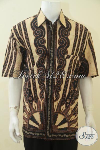 Baju Batik Klasik Spesial Pria Gemuk, Busana Lengan Pendek Proses Tulis Daleman Full Furing Size Jumbo, Cocok Buat Ke Kantor, Size XXL