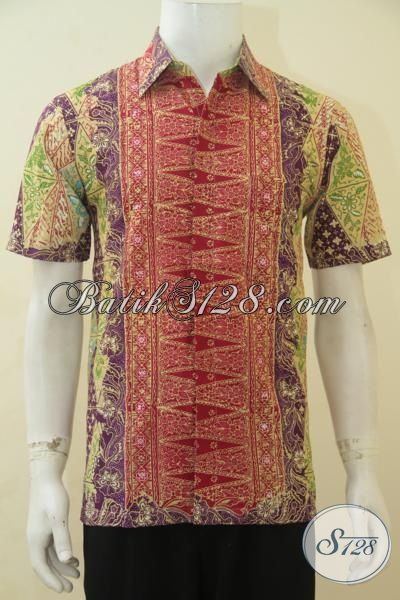 Jual Online Baju Batik Cap Tulis Dengan Desain Motif Terbaru Yang Lebih Trendy Dan Mewah, Hem Batik Pria Buat Tampil Tampan Maksimal, Size S
