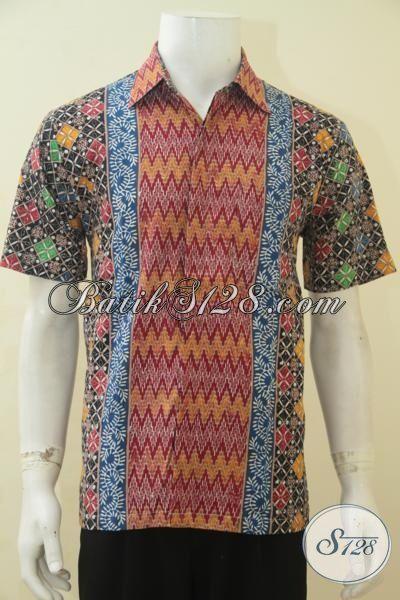 Pakaian Batik Halus Proses Cap Tulis, Hem Batik Seragam Kerja Kantoran, Baju Batik Istimewa Harga Terjangkau Dengan Motif Trend Masa Kini Sempurnakan Penampilan Pria Sejati [LD4484CT-M]