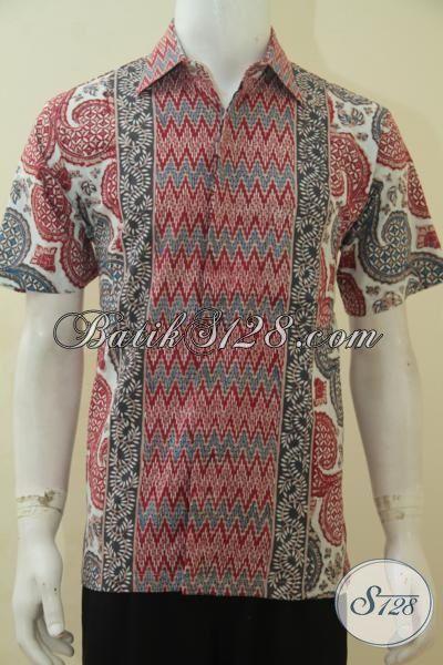 Jual Baju Batik Cap Tulis Motif Kombinasi Kemeja Batik