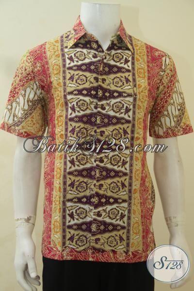 Jual Produk Kemeja Batik Elegan Model Dan Motif Paling Laris, Busana Batik Gaul Khas Kawula Muda Proses Cap Tulis Harga 100 Ribuan, Size M