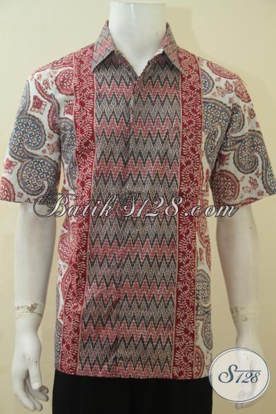 Jual Online Kemeja Batik Gaul Size L, Baju Batik Modern Proses Cap Tulis, Busana Batik Jawa Buatan Solo Tampil Keren Dan Berkelas