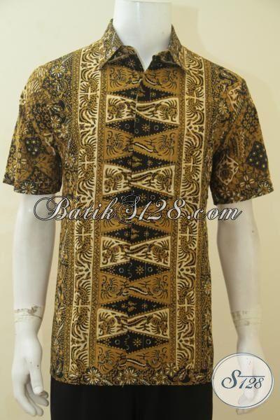 Hem Batik Motif Trendy Warna Klasik Nan Elegan, Pakaian Batik Cap Tulis Halus Baju Kerja Berkelas Membuat Pria Lebih Berkarakter [LD4500CT-L]