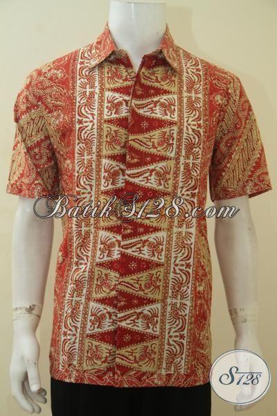 Produk Busana Batik Jawa Istimewa Kwalitas Halus Harga Terjangkau, Baju Batik Modern Proses Cap Tulis motif Palign Laris Saat Ini, Size L