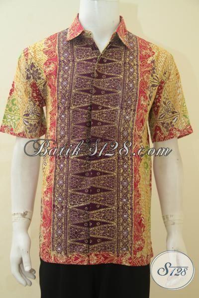 Sedia Pakaian Batik Anak Muda Masa Kini Kwalitas Premium, Baju Kerja Berkelas Proses Cap Tulis Halus Dan Terjangkau, Size L