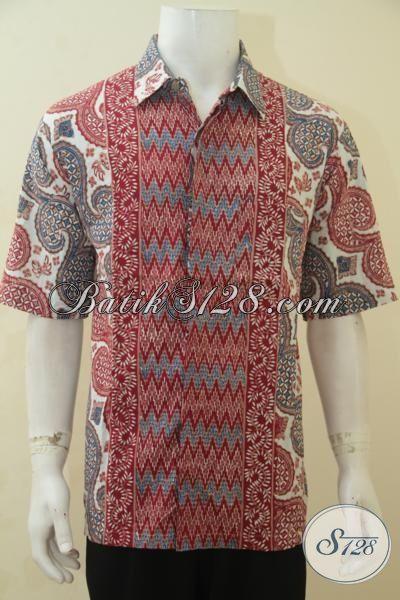 Hem Batik Cowok Ukuran XL, Baju Batik Trendy Khas Kawula Muda Proses Cap Tulis, Membuat Pria Dewasa Terlihat Muda