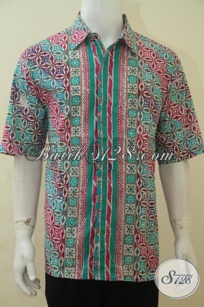Baju Batik Lengan Pendek Dengan Kwalitas Motif Lebih Bagus Dan Harga Yang Terjangkau, Kemeja Batik Santai Pria Dewasa Tampil Bagus Dan Luara Biasa [LD4508CT-XL]
