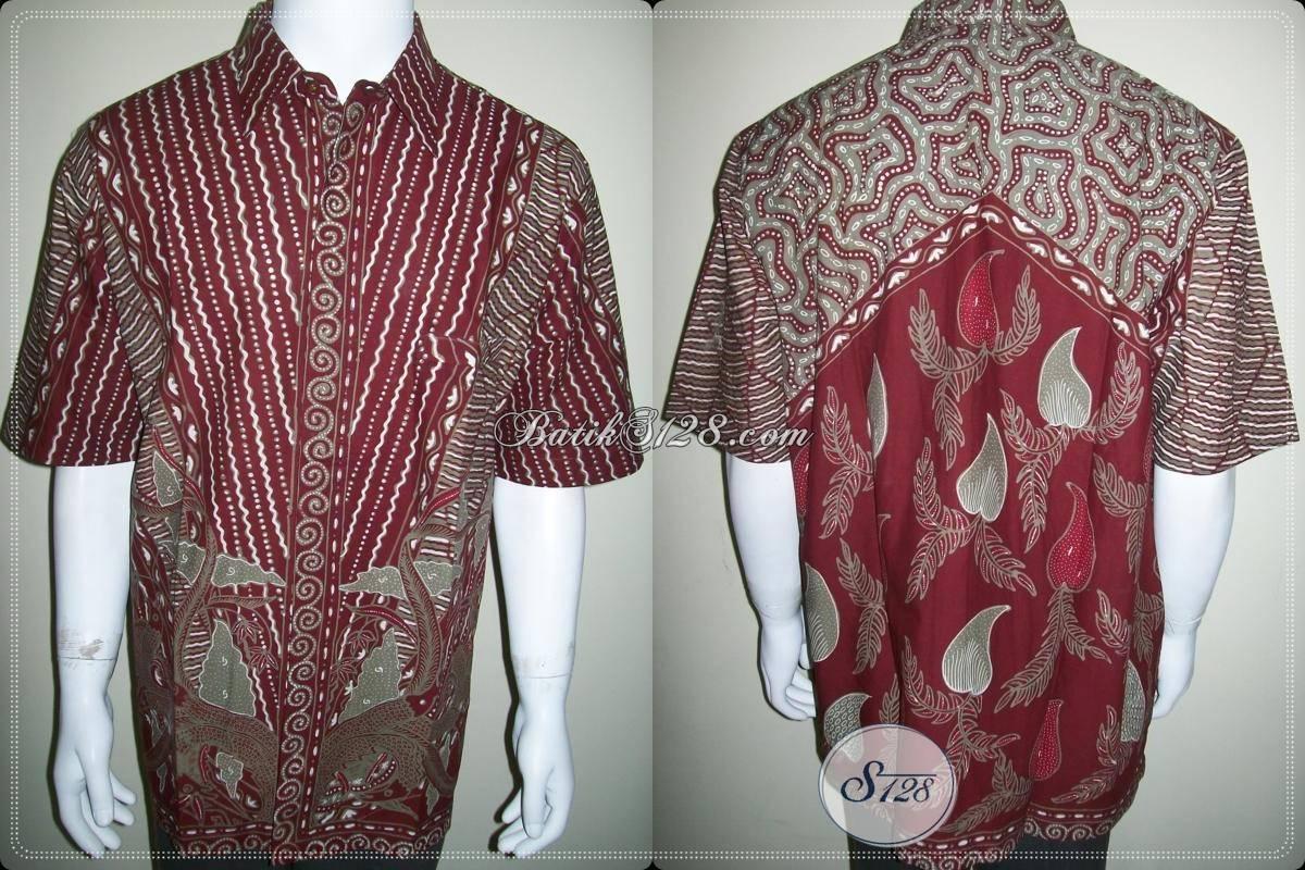 Baju Batik Pria Modern, Batik Kerja Kantor, Batik Tulis Ukuran XXL
