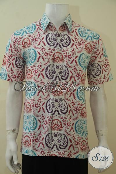 Hem Batik Lelaki Muda Dan Remaja Pria, Baju Batik Santai Lengan Pendek Motif Keren Pas Untuk Hangouts, Proses Cap Bledak [LD4512CD-M]