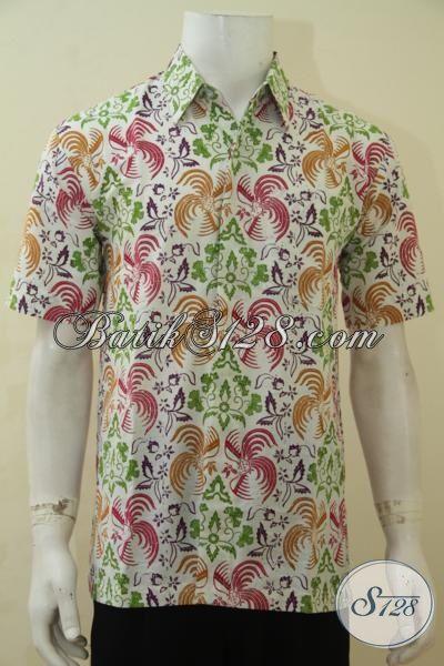Kemeja Batik Gaul Kwaula Muda, Hem Batik Remaja Pria Proses Cap Bledak Motif Keren Banget, Size M