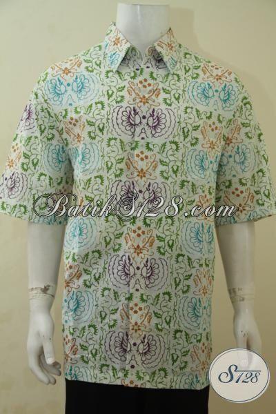 Produk Baju Batik Cowok Terbaru Dengan Motif Keren Dan Kwalitas Bahan Yang Halus, Baju Batik Santai Cocok Buat Jalan-Jalan Proses Cap Bledak, Size XL