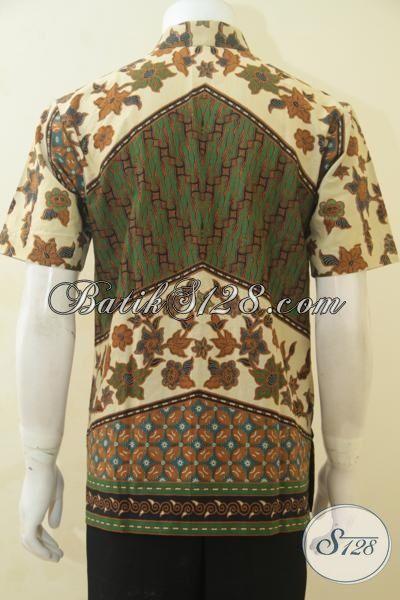 Toko Online Pakaian Batik Jawa Paling Up To Date, Jual Hem Batik Halus Proses Print Lengan Pendek, Pakaian Batik Klasik Desain Istimewa Cowok Terlihat Berwibawa [LD4525P-M]