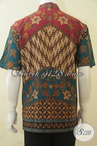Baju Kerja Batik Produk Terbaru Dari Solo, Pakaian Batik Halus Proses Printing Motif Terbaik Saat Ini, Hadir Dengan Harga 100 Ribuan [LD4527P-L]