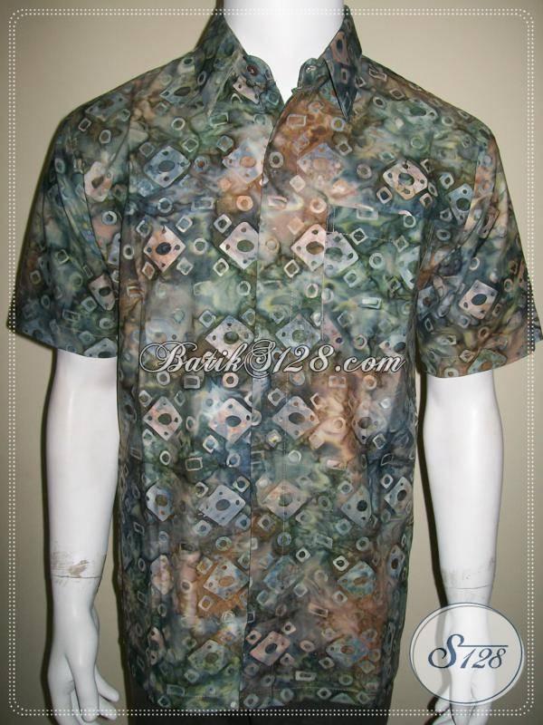 Baju Batik Pria Terbaru Batik Cap Ukuran Besar Ld454cs