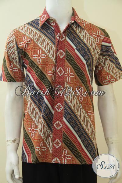 Aneka Pakaian Batik Pria Muda Motif Terbaru Yang Fashionable Serta Modern, Baju Batik Santai Proses Cap Tulis Cocok Untuk Hangouts [LD4587CT-M]