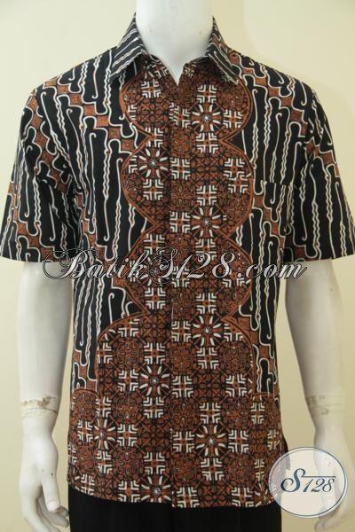 Toko Baju Batik Klasik Desain Motif Modern Elegan Dan Mewah, Pakaian Batik Jawa Etnik Porses Cap Tulis Membuat Cowok Terlihat Sempurna [LD4594CT-L]