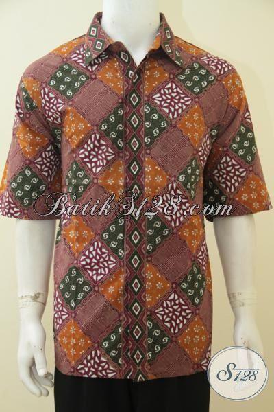 Jual Produk Kemeja Batik Motif Unik Proses Cap Tulis, Busana Batik Jawa Halus Kwalitas Istimewa Untuk Pakaian Kerja, Size XXL