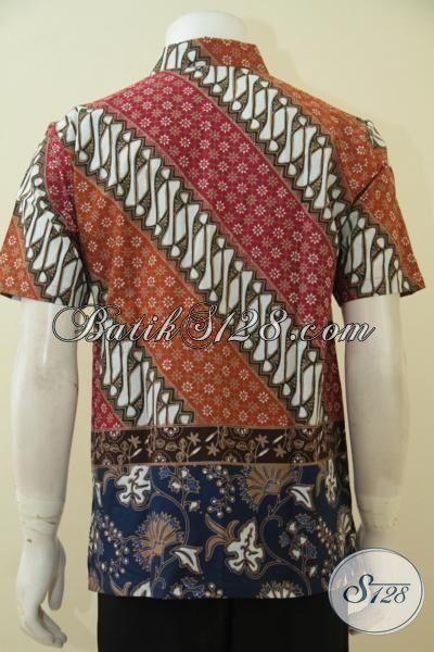 Toko Batik Solo Online Sedia Kemeja Batik Dual Motif Trend Mode Kawula Muda Masa Kini, Hem Batik Cap Tulis Spesial Buat tampil Elegan Dan Gaul, Size M – XL