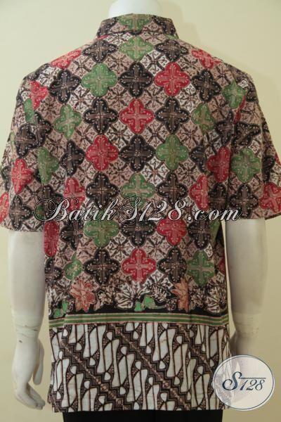 Online Shop Produk Pakaian Batik Asli Solo, Jual Kemeja Batik Lengan Pendek Pria Dewasa Size XL, Busana Batik Halus Motif Mewah Harga Terjangkau