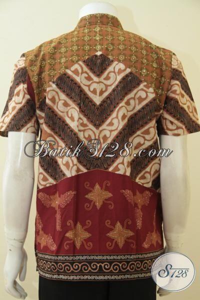 Baju Batik Klasik Motif Elegan, Hem Batik Premium Full Furing Kombinasi Tulis Warna Berkelas, Pilihan Tepat Pria Muda  Untuk Tampil Gagah Dan Berkarakter, Size M