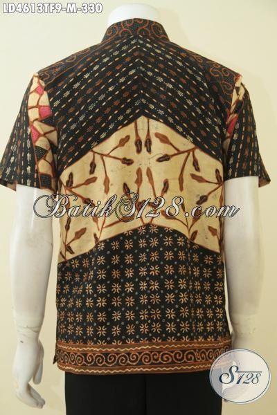 Hem Batik Klasik Lengan Pendek, Baju Kerja Cowok Size M, Busana Batik Jawa Halus Proses Tulis Daleman Full Furing Tampil Lebih Mewah