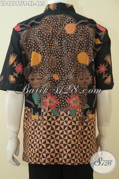 Toko Busana Batik Jawa Halus Mewah Premium, Jual Online Baju Batik Mahal Kesukaan Executive Proses Tulis Daleman Full Furing Trend Mode Masa Kini, Size XL