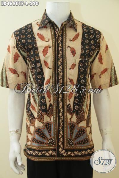 Produk Kemeja Batik Tulis Terbaru, Hem Batik Full Furing Lengan Pendek Motif Klasik Desain Elegan Proses Tulis, Cocok Buat Seragam Kerja Dan Acara Formal, Size L