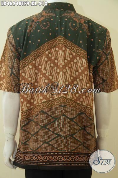 Hem Batik Motif Klasik Halus Dan Mewah, Busana Batik Untuk Seragam Kerja Dan Rapat Proses Kombinasi Tulis, Baju Batik Berkelas Full Furing Untuk Lelaki Dewasa Size XL