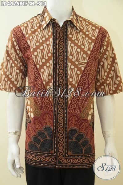 Online Shop Aneka Produk Batik Paling Up To Date, Sedia Hem Batik Lengan Pendek Kombinasi Tulis Full Furing, Motif Klasik Biki Cowok Terlihat Elegan [LD4626BTF-XL]