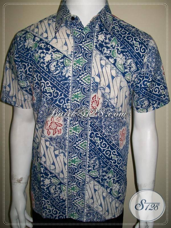 Batik Cowok Keren Gaul Biru 0b80e3411c
