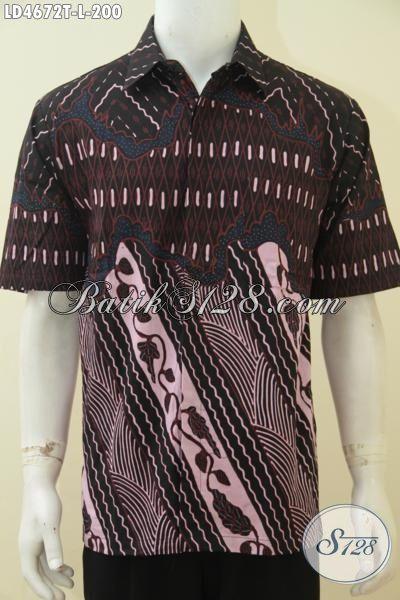 Produk Busana Batik Klasik Kombinasi Dua Motif, Jual Online Pakaian Batik Jawa Terbaru Kwalitas Istimewa Harga Terjangkau, Size L
