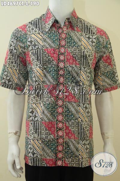 Jual Online Pakaian Batik Solo Motif Paling Keren Saat Ini, Baju Batik Modern Kwalitas Halus Cap Tulis Membuat Cowok Terlihat Kece Dan Gaul[LD4697CT-L]