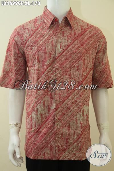 Produk Pakaian Batik Terbaru Di Jual Online, Hem Batik Cap Tulis Warna Kalem Desain Motif Keren Pas Buat Seragam Kerja Pria Dewasa [LD4699CT-XL]